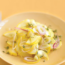 Quick-Marinated Yellow Squash Salad