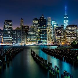 by Fernando DaCosta - City,  Street & Park  Skylines ( nyc, new york city )