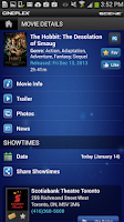 Screenshot of Cineplex Mobile