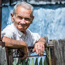 Villager from Romania by Toma Teodor - People Portraits of Men ( authentic, countryman, old man, villager, romania, rustic, natural )
