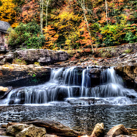 Glade Creek Mill by Steven Faucette - Landscapes Mountains & Hills ( mill, mountains, glade, west virginia, waterfall, fall, babcock )
