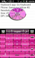 Screenshot of Pink and Black Keyboard Skin
