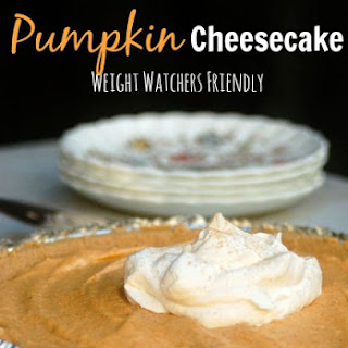 Easy Low Calorie No Bake Pumpkin Cheesecake