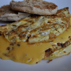 Caramelized Apple and Cheddar Omelet