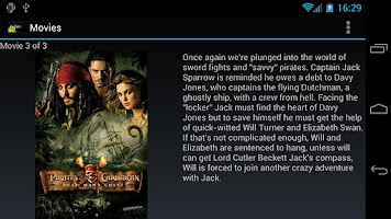 Screenshot of AndMote XBMC
