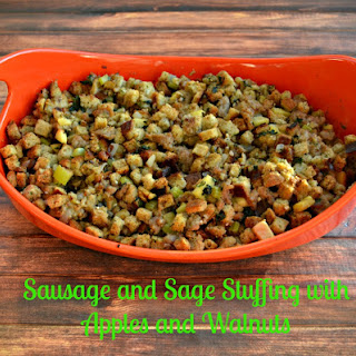 Sausage and Sage Stuffing with Apples and Walnuts