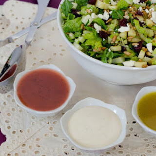 Easy Green Party Salad with Honey Orange Vinaigrette