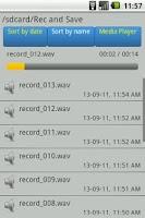 Screenshot of Rec and Save Recorder