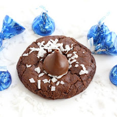Chocolate Coconut Kiss Cookies