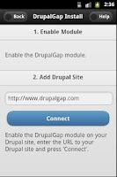 Screenshot of DrupalGap