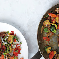Brussels Sprouts and Steak Stir-Fry
