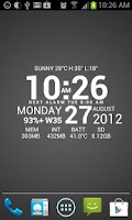 Screenshot of Super Typo Weather Info Clock
