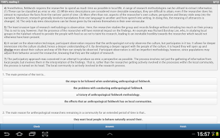 Screenshot of TOEFL® Reading