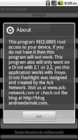 Screenshot of Droid Flashlight