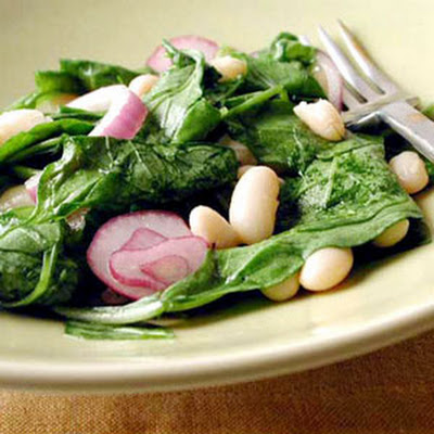 Tuscan Bean and Wilted Arugula Salad