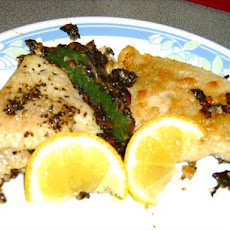 Catfish With Mushroom and Spinach Stuffing