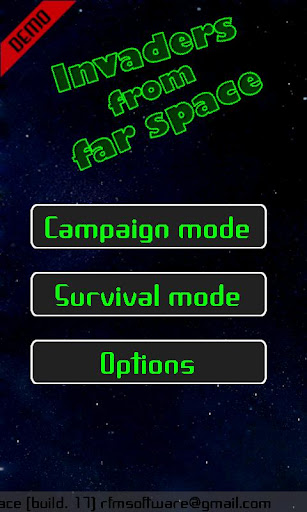 Invaders from far Space Demo