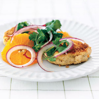 Tortilla-Crusted Cod Cakes