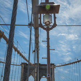 Brooklyn Bridge by Julia Golosiy - Buildings & Architecture Bridges & Suspended Structures ( details, bridge, new york, light, usa, suspended,  )