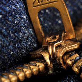 Zipper by Sanjib Paul - Artistic Objects Clothing & Accessories ( macro, chain, macro photography, artistic, object, golden )