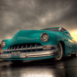 Low Blue by Steve Corley - Transportation Automobiles