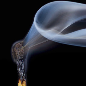 smoke by Vibeke Friis - Abstract Fire & Fireworks ( macro, match, smoke )