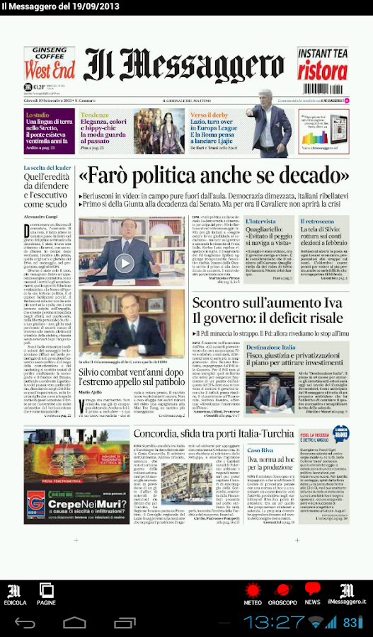 Il Messaggero Digital Screenshot 5
