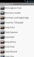 Screenshot of All Newspapers UK