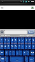 Screenshot of Blue Keyboard Skin