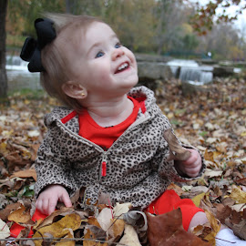 Maddyson playing in the leaves by Chanin Reed - Babies & Children Toddlers (  )