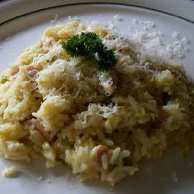 Creamy Bacon And Leek Risotto