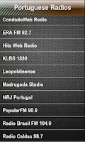 Screenshot of Portuguese Radio Radios