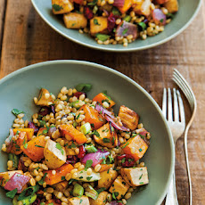 Wheat Berries with Roasted Parsnips, Butternut Squash & Dried Cranberries