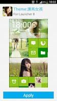 Screenshot of Launcher8 theme Beautiful girl