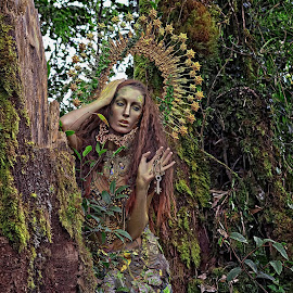 The forest fairy by Crispin Lee - People Portraits of Women
