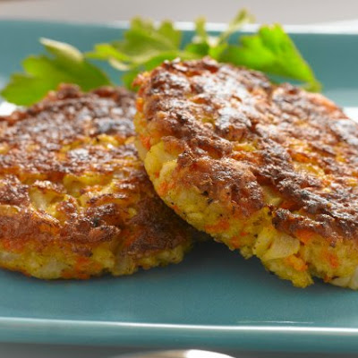Low-Fat Cauliflower Carrot Latkes