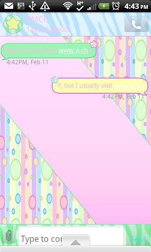 GO SMS THEME PastelPolkaDots