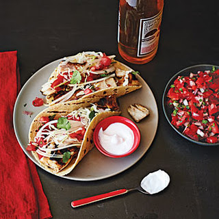 Baja-Style Grilled Fish Tacos with Cabbage and Crema