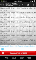 Screenshot of Nouman Ali Khan Podcast