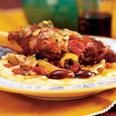 Lamb Shanks with Artichoke Caponata