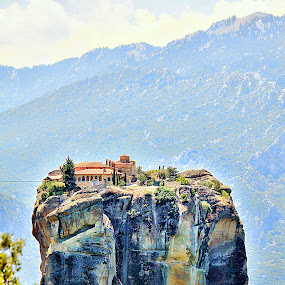 Meteora - Greece by Гојко Галић - Landscapes Mountains & Hills ( mountain, nature, peak, monastery, landscape )