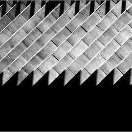 B&W Triangle by Tomislav Zebic - Abstract Patterns