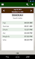 Screenshot of Prayer times: Qibla & Azan