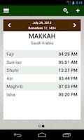 Screenshot of Prayer times: Qibla & Azan