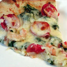 Simply Delicious Shrimp and Spinach Pizza