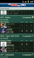 Screenshot of The Tennis App