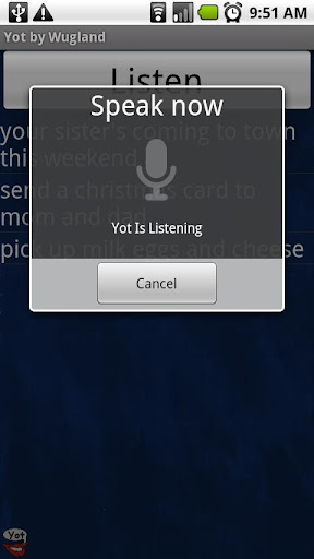 Yot for Android 1.5
