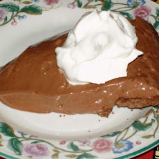 Moo-Less Chocolate Pie by Alton Brown