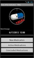 Screenshot of Time of the Medication - Trial