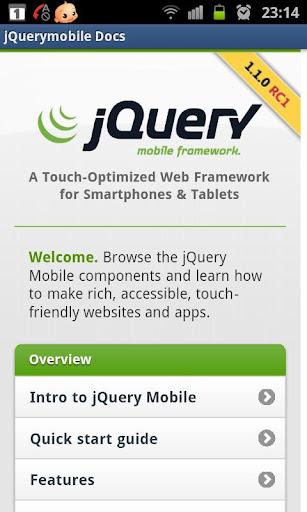 jQuery mobile 1.1.0 Demos docs